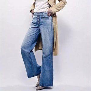 Free People Boho Avendale Wide Leg Flare Jeans 29